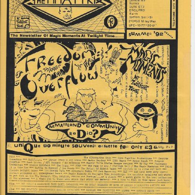 The MMaTTrix #5, Summer 1992