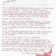 1989 Letter from Matthias Lang