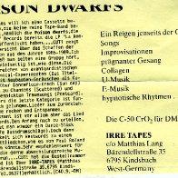 Press release for Poison Dwarfs