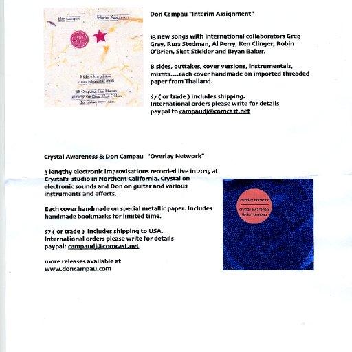 Press Release: Don Campau - Interim Assignment, Crystal Awareness & Don Campau - Overlay Network