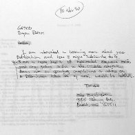 Letter - Mike Engrebretson