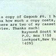 Letter from Raymond Scott Woolson